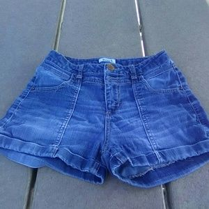 Mudd rolled cuffed denim shorts